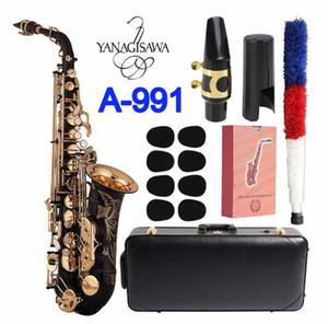 high quality Saxophone Alto Yanagisawa A-991 Eb Tuen Black Gold key Sax Alto musical instruments professional with case free shippin