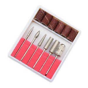 Nail Drill Bit маникюрный набор 6 шт твердосплавные ногтей Биты пилочки для электрического Портативное устройство для маникюра