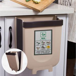Baffect plegable colgante de basura de la cocina de basura plástico con Bin cocina compost Caddie cubo de basura Cubo de basura para el hogar del coche Y200429
