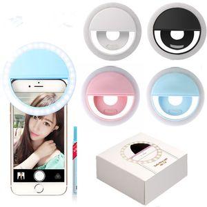 telemóvel selfie LED Ring Flash Portable Light Telefone selfie Lâmpada luminosa da lâmpada clipe Camera Fotografia Vídeo lente Spotlight frete grátis