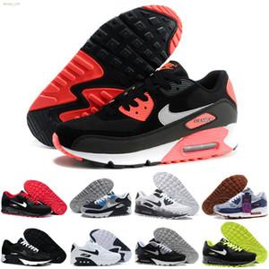 Nike air max 90 High Quality 2019 New Air Cushion Running Schuhe Günstige Männer Frauen Schwarz Weiß Beige Luft Sneakers Klassische Air Cushion Trainer Sportschuhe