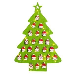 Hot New Christmas Lighted Felt Calendar Pendant Clip String Calendar Christmas Calendar Decoration