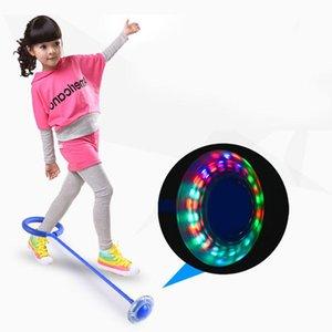 Hot 2019 bambini all'aperto Un piede Flash di salto anello Fun Sports Luminous capacità di movimento giocattolo sviluppare miglior regalo per i bambini