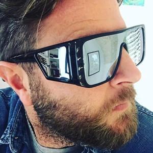 tasarımcının güneş gözlüğü kez lüks güneş gözlüğü Erkek Güneş Gözlüğü Büyük çerçeve yansıtıcı güneş Moda plaj tatil serin gözlükler
