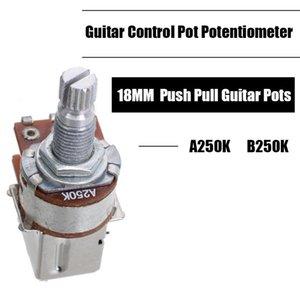 Wholesales 100pcs A250K B250K Push Pull guitare commande Pot guitare Accessoires Pièces Potentiometer