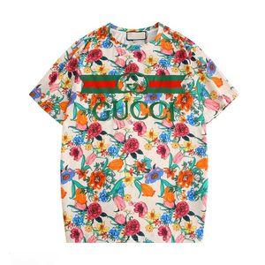 Sommermens-Frauen-T-Shirt Marken-Designer-T-Shirts mit Buchstaben Breath Kurzarm Herren Tops mit Blumen T-Shirts Großhandel kk