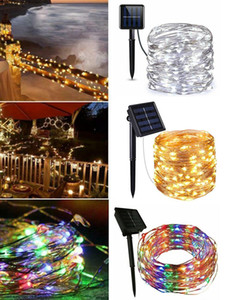 Outdoor Solar String Lights Waterproof 10M 100 LED Copper Wire Light String