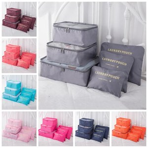 Sacs de rangement Voyage sac de rangement 6 pcs de grande capacité sac à fermeture Organisateur vêtements réutilisables Tidy Armoire Chaussures d'emballage Sac Cube ZYQ190
