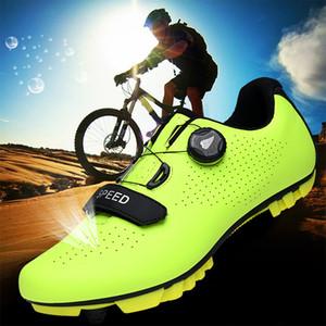 2020 الدراجة أحذية المهنية بلين تنفس ركوب الدراجات على الطرق أحذية الرجال الطريق الذاتي قفل دراجة أحذية رياضية الخفيفة جدا
