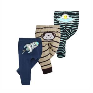 3 adet / grup Moda Bebek Pantolon Bahar Sonbahar Çocuk Giyim Erkek Kız Harem Pp Pantolon Örme Pamuk Yenidoğan Bebek Giyim Y190529