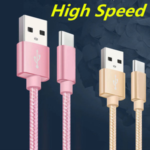 Fast Charging USB Cables Type C TO C Charging Adapter Data Sync High Speed Metal Charging Phone Adapter Thickness Strong Braided Wire Cable