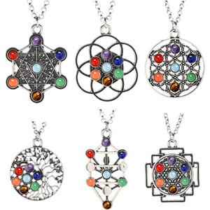 7 Chakra Halskette Energy Healing Crystal Yoga Halskette für Frauen Wünschelrute Weissagung Pendel Edelstein Anhänger