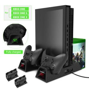 OIVO Cooling Vertical Stand Dual Controller Ladegerät Ladestation Lüfter mit Batterien für die Xbox ONE / S / X-Spielekonsole