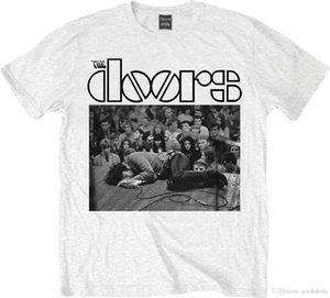 문 짐에 바닥 화이트 T 셔츠 남여 크기 Taille XXL ROCK OFF 재미 무료 배송 유니섹스 (남녀 공용) 캐쥬얼 티셔츠