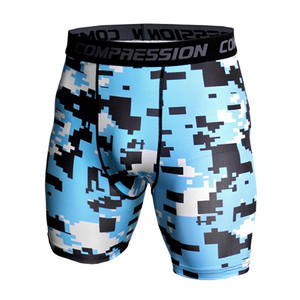 Men's Exercise Gym Shorts Pro Quick-dry Sportswear Running Bodybuilding Skin Sport Training Fitness Compression Shorts with Cl