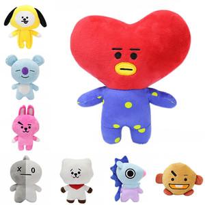 20 centímetros Bangtan Boys BTS BT21 Plush Doll Toy Tata Van RJ Cooky Chimmy Shooky Koya Mang de pelúcia brinquedos para crianças caçoa o presente