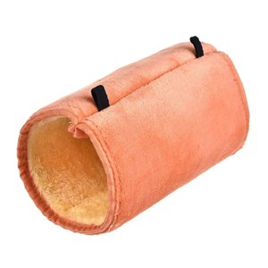 Warm Hamster Cage Random Color Plush Squirrel Guinea Pig Hammock With Chain Comfortable Swing Tunnel Hamster Toy Hot