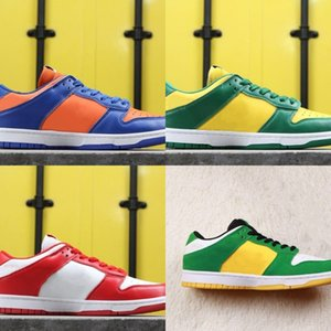 Hot Sale Dunk Low Pro SB Buck Oregon Athletic Designer Shoes Varsity Maize Pine Green White Fashion Skateboard Trainers Ship With Box