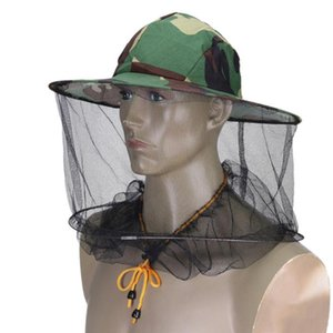 Camouflage Fishing Hat Bee Keeping Insects Mosquito Net Prevention Cap Mesh Fishing Cap Outdoor Sunshade Neck Head Cover