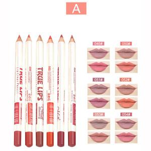 Menow Matte Lip Liner Pencil Set Waterproof Long Lasting Матовый Lipliner Pen Профессиональный макияж Косметические инструменты 6шт / комплект