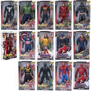 "Marvel Super Heroes Avengers Thanos Black Panther Captain America Thor Iron Man Spiderman Hulkbuster Hulk Action Figure toy 12""30cm"