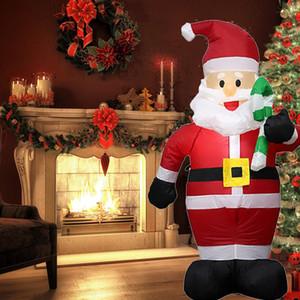 Navidad inflable gigante Santa Claus decoraciones de Navidad para jardín al aire libre Inicio Merry arcos de bienvenida 4 pies alto