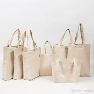 MDF sublimação em branco de transferência de calor de bolsas de DIY bolsas de lona costume de publicidade em branco sacola de compras de algodão