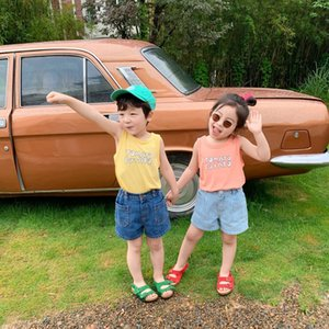 XY.KIDS girls' sleeveless T-shirt summer Vest T-shirt jacket vest boys' thin Western style jacket children's wear for children