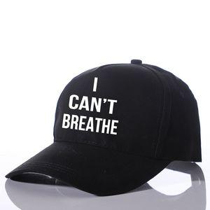 New Baseball Cap I Can't Breathe Letter Print Visor Caps Snapbacks Men Women Casquette Mesh Back Hip Hop Cap Hat Design Sunhat Hot Souvenirs