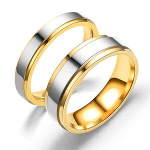 Steps Wedding Rings For Lover Stainless Steel Couple Rings For Engagement Party Jewelry Wedding Bands G0491