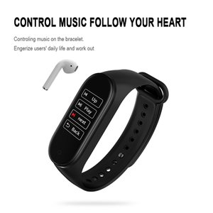 New M4 Smart Sport bracelet Watch band Bluetooth Waterproof Heart rate Blood Pressure outdoor band wearable Moving information sharing TWS