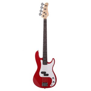 New Exquisite Red 4-String Electric Bass Guitar Burning Fire Style Ship from USA