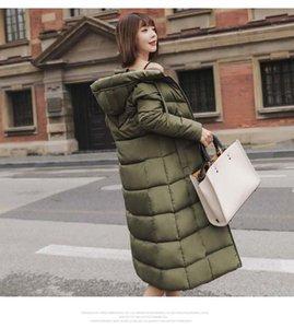 Chaqueta PinkyIsblack mujeres del invierno cubre la chaqueta 2019 de algodón acolchado larga con capucha Espesar Mujer Parkas más del tamaño 6XL chaqueta mujer