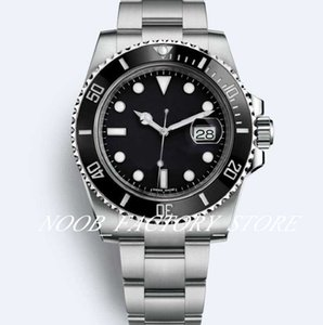 Luxury Super N 8 fabbrica di stile colloquiale Versione Guarda 116610 116613 114060 lunetta in ceramica 2813 Movimento automatico Diving Watch Watches Mens