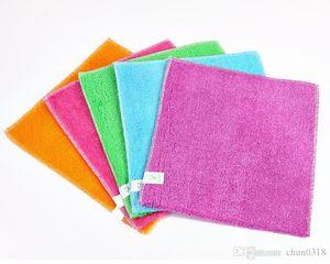 hthome горячий сплошной цвет бамбуковое волокно кухонное полотенце микрофибра абсорбент рука сухое полотенце Кухня Ванная комната мягкие плюшевые кухонные полотенца кухонные полотенца