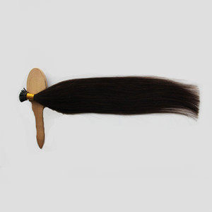 I Tip Hair Extensions Human Hair Real Brazilian Hair Keratin Pre Bonded Cold Fusion Natural Color 1.0g s 100g