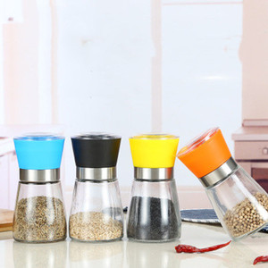 Sal y Pimienta Molino Grinder de plástico Pepper Grinder Shaker especias sal condimento envase soporte para vasos de molienda Botellas Quickily de entrega
