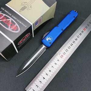 SICAK MT Otomatik bıçak UTX 85 çift eylem Taktik CNC Havacılık alüminyum mavi kolu otomatik bıçak EDC Bıçaklar