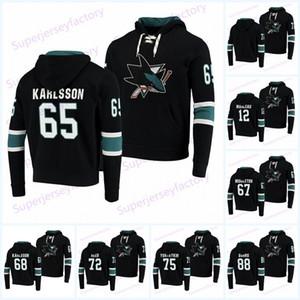 65 Erik Karlsson San Jose Sharks Sudaderas Jerseys 8 Joe Pavelski 9 Evander Kane 19 Joe Thornton 39 Logan Couture 88 Brent Burns Logan Couture