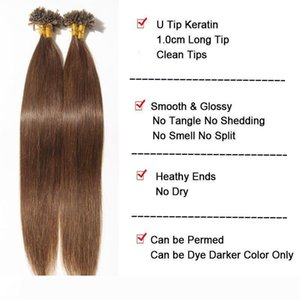 16-24inch Straight Nail U Tip Haire Extension Keratin Capsules 100% Human Hairy Remy PreBonded 60 Hair 100 strands