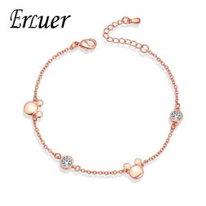ERLUER bracelets de charme pour les femmes Rose Gold Mickey bijoux nouveau style Fille de la marée de la mode cristal Zircon bracelet bijoux cadeau
