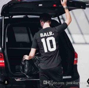 BALR 10 Harf Tişört Erkekler Kadınlar Yaz Kısa Sleeve Aktif Spor Tees Casual Futbol Topu Aşıklar Tişört Tops Wear yazdır
