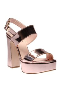 Pearl Genuine Leather Pink Women 'S High-Heeled Shoes 120130001676