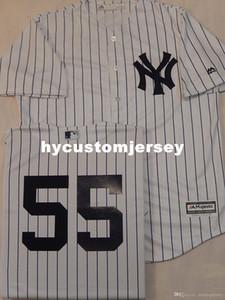 Cheap personalizzati New York # 55 SONNY GRIGIO Sewn basso freddo di baseball Jersey WHT P / S New Mens cucita maglie grande e grosso formato XS-6XL In vendita