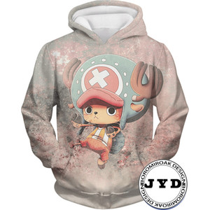 Felpa con cappuccio One Piece Donna Felpa con cappuccio 3D Felpa con cappuccio carino Tony Tony Chopper Felpa con cappuccio One Piece Felpa con cappuccio Novetly Cartoon S-5XL