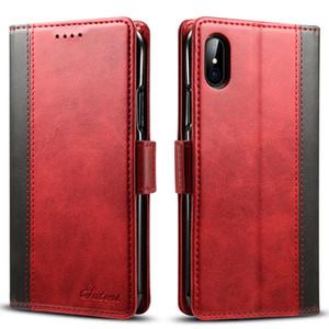 Custodia in pelle Slot Retro Card per caso 7 Plus telefono delle coperture iPhone11pro Xs Max per iPhone XR casi Phone 8