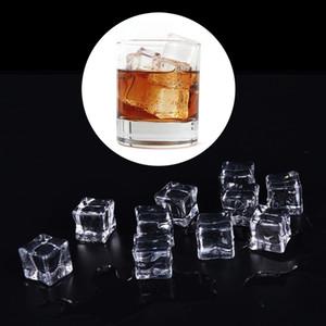 10pcs chiaro artificiale acrilico Ice Cubes falso Ice Cubes Piazza cristallo Home Decor puntelli foto