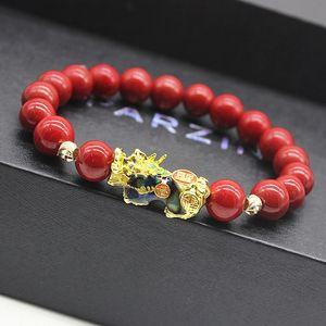 Feng Shui Steinperlen Armband Männer Frauen Unisex-Armband Farbe ändern Pixiu Wealth and Good Luck Frauen-Armband