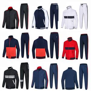 Sudaderas y sudaderas con capucha para hombres nuevos de alta calidad Ropa deportiva Hombre Pantalones de chaqueta polo Jogging Jogger Conjuntos Cuello alto Chándales deportivos Chándal