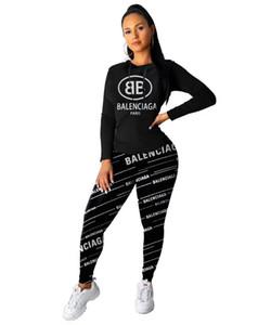Las mujeres trajes del traje del chándal del deporte ocasional del suéter con capucha + Pant jogging Femme Marque Survetement de deporte Conjunto de 2 piezas
